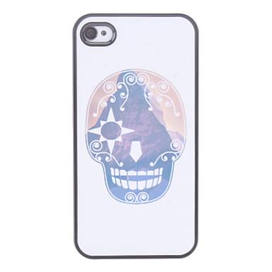 IPhone 4/4S için Karikatür Kafatası Desen Hard Case