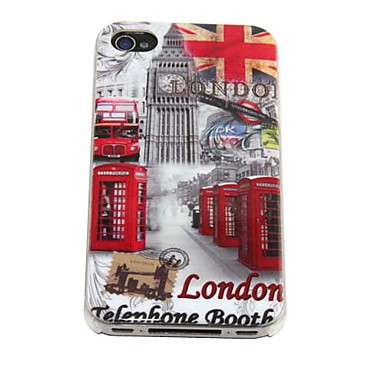 England Telephone Booth Pattern Hard Case for iPhone 4/4S