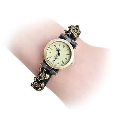 Vintage Skull Pattern PU Wrist Watch