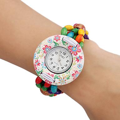Reloj Brazalete Analógico de Madera para Mujer (Multi-Colores)