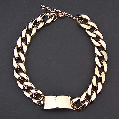 Shape Chain Necklace Alloy Chain Necklace Daily Costume Jewelry