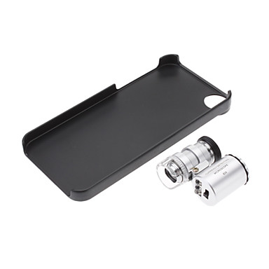 Microscope 60X Zoom Power Camera Lens with Back Case for iPhone 5