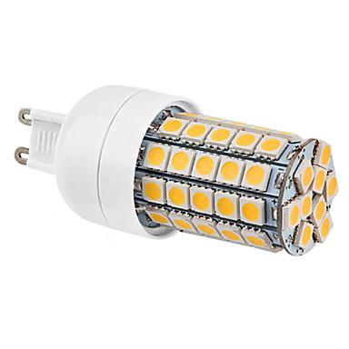 Lampadine a pannocchia 59 SMD 5050 G9 6 W 540 LM 2800K K Bianco caldo AC 220-240 V