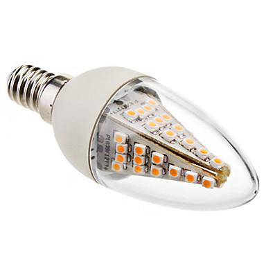 1pc 3 W 130-180 lm E14 LED Mum Işıklar C35 48 LED Boncuklar SMD 5050 Dekorotif Sıcak Beyaz 220-240 V