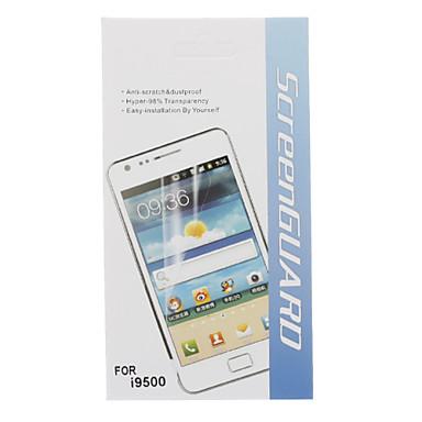 5 En 1 Protector de pantalla de alta definición con paño de limpieza para Samsung i9500 Galaxy S4