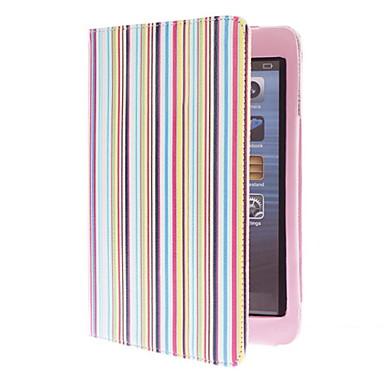 아이 패드 미니 3, 아이 패드 미니 2, 아이 패드 미니에 대한 스탠드 다채로운 줄무늬 패턴 PU 가죽 케이스
