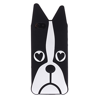 Black Dog Pattern Soft Case for iPhone 5/5S