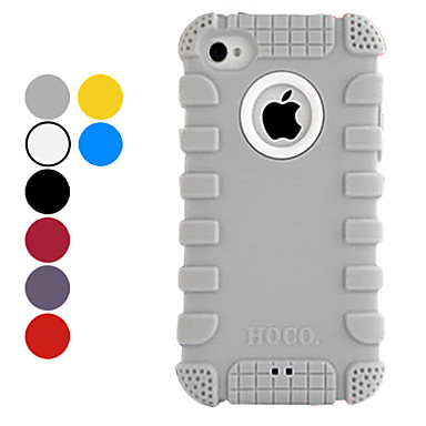 Solid Color Silica Gel Soft Case for iPhone 4/4S (Assorted Colors)
