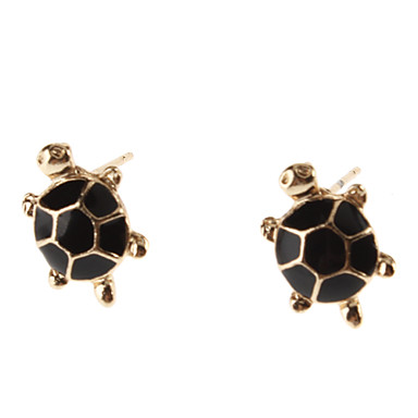 Kadın's Vidali Küpeler alaşım Hayvan Kaplumbağa Mücevher Günlük
