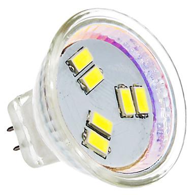 2W GU4(MR11) LED Spotlight MR11 6 SMD 5630 180 lm Natural White AC 12 V