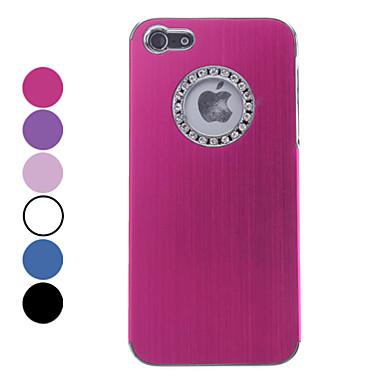 Coque Pour Coque iPhone 5 Strass Coque Arrière Couleur unie Dur Aluminium pour iPhone SE/5s iPhone 5