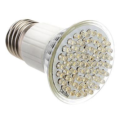 E27 3,5 W 60-LED 350-400LM 3000-3500K Sıcak Beyaz Işık LED Spot Ampul (85-265V)