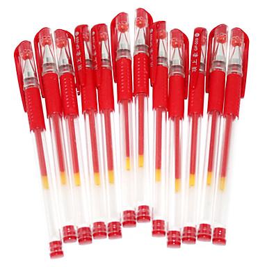 Multifuntion Red Ink Gel Pen (12PCS)