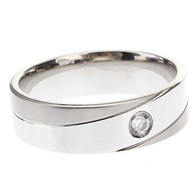 Homens Mulheres Anéis Grossos Estilo simples Aço Titânio Formato Circular Forma Geométrica Jóias Festa