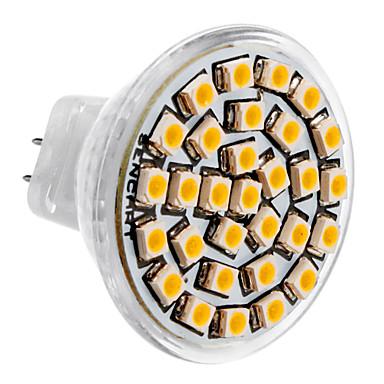 SENCART 3500lm GU4(MR11) LED Spotlight MR11 30 LED Beads SMD 3528 Warm White 12V