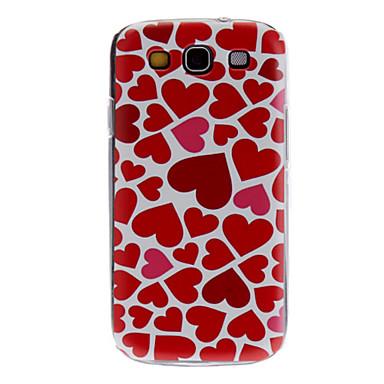 Pouzdro Uyumluluk Samsung Galaxy Samsung Galaxy Kılıf Temalı Arka Kapak Kalp PC için S3