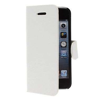 Para Capinha iPhone 5 Porta-Cartão / Com Suporte / Flip Capinha Corpo Inteiro Capinha Cor Única Rígida Couro PUiPhone 7 Plus / iPhone 7 /