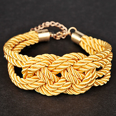 Candy Color Rope With Chinese Knot Bracelet