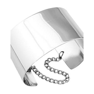billige Armbånd-Dame Mansjettarmbånd Statement Personalisert Unikt design Europeisk Mote Armbånd Smykker Sølv / Gylden Til Julegaver Fest