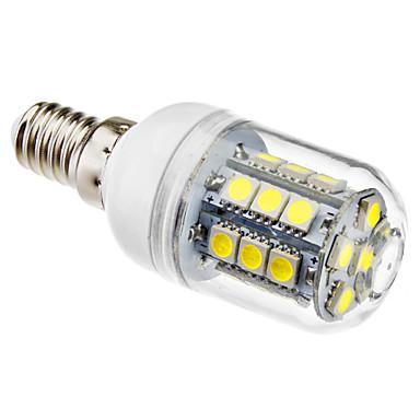 3W 5500lm E14 LED Mısır Işıklar T 27 LED Boncuklar SMD 5050 Doğal Beyaz 220-240V