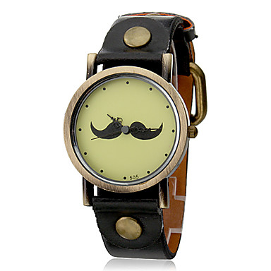 Women's PU Analog Quartz Wrist Watch (Black Band)