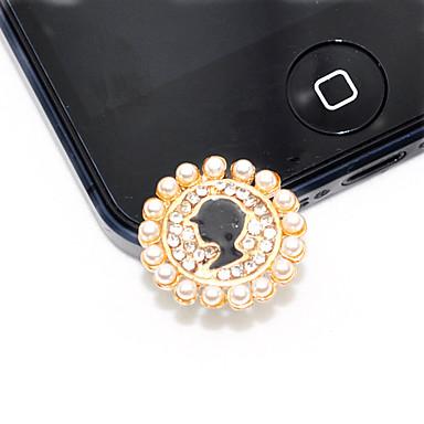 Beauty Portrait Perle Anti-Staub-Stecker für iPhone 5