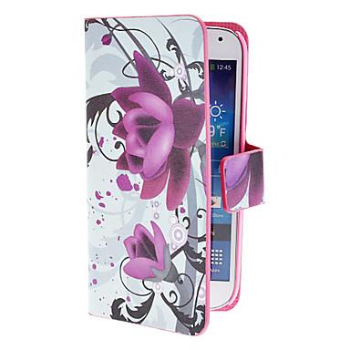 Için Samsung Galaxy Kılıf Kart Tutucu / Satandlı / Flip / Temalı / Manyetik Pouzdro Tam Kaplama Pouzdro Çiçek PU Deri Samsung S4 Mini