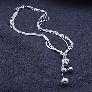 Kadın's Takı Seti - Som Gümüş, Gümüş Yılan Temel, Gelin Dahil etmek Uçlu Kolyeler Küpe Beyaz Uyumluluk Parti Doğumgünü Nişan / Kolczyki