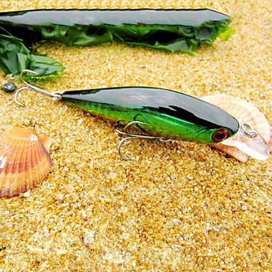 adet Sert Balık Yemi Minnow Yeşil Altın Kırmızı g/Ons mm inç,Sert Plastik Deniz Balıkçılığı Tatlı Su Balıkçılığı