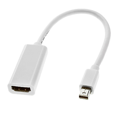 Thunderbolt Male to HDMI V1.4 Female Cable White for MacBook Air/MacBook Pro/iMac/Mac mini(0.3M)