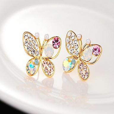 Women's Stud Earrings Pearl Rhinestone Alloy Butterfly Animal Jewelry Party Daily Costume Jewelry