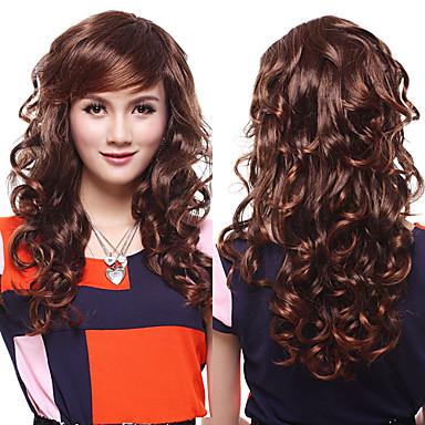 Peruci Sintetice Ondulat Stil Fără calotă Perucă Bej Păr Sintetic 20 inch Pentru femei Perucă Halloween Wig