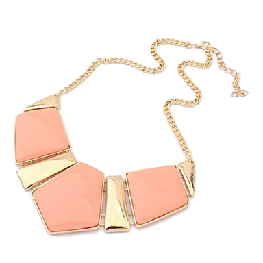 Candy Color Gem Geometry Necklace(Assorted Color)