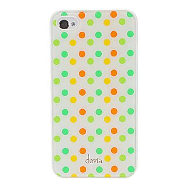 IPhone 4/4S için sapma Muhtasar Renkli Yuvarlak Nokta Pattern Pürüzsüz Yüzey PC Hard Case
