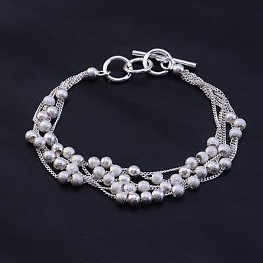 Dame Perlearmbånd Sølvplett Armbånd Smykker Sølv Til Fest Daglig Avslappet