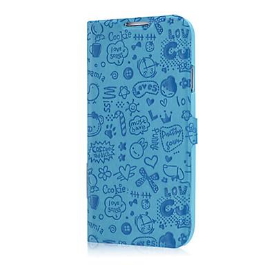 Için Samsung Galaxy Kılıf Kart Tutucu / Satandlı / Flip / Temalı / Süslü Pouzdro Tam Kaplama Pouzdro Solid Renkli PU Deri Samsung S4