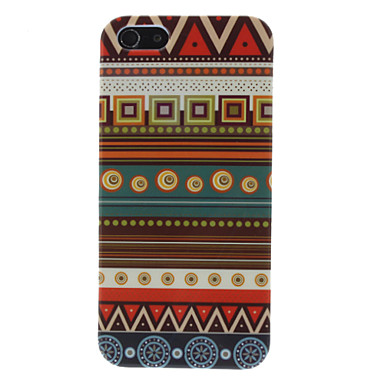 Brown Tones Ethnic Pattern Hard Case for iPhone 5/5S