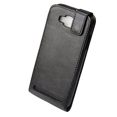 PU Full Body Flip Case for Samsung I8750 S4-Black