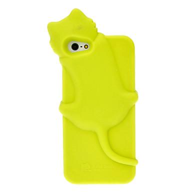 솔리드 컬러 3D는 아이폰 5 (분류 된 색깔)를위한 개구리 엿 작풍 실리콘 소프트 케이스 미소