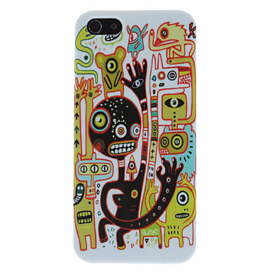 Extra-terrestrials with Tail Pattern Hard Case for iPhone 5/5S