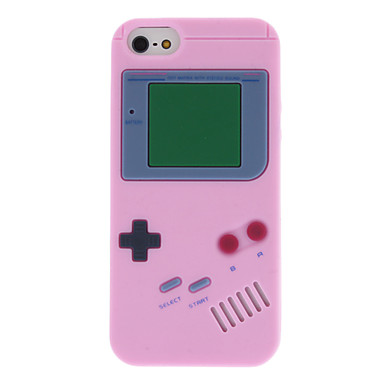 Capa Traseira de Silicone Gel Game Boy Vintage para iPhone 5/5S