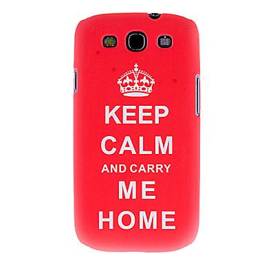 Samsung Galaxy S4 i9300 için Termal Transfer Baskı Desen Kırmızı Taç Kılıfı