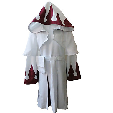 Inspirat de Final Fantasy White Mage Video Joc Costume Cosplay Costume Cosplay Tipar Manșon Lung Geacă Rochie Centură Costume