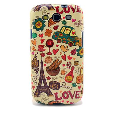 Samsung Galaxy S3 i9300 için Eyfel Kulesi ve Ekmek Parlak TPU Kılıf