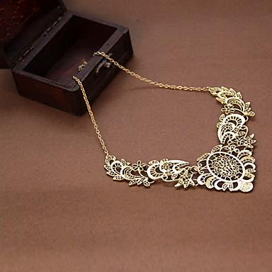 Kadın's Uçlu Kolyeler - Dantel Krzyż, Çiçek Lüks, Vintage, Avrupa Kolyeler Mücevher Uyumluluk Parti
