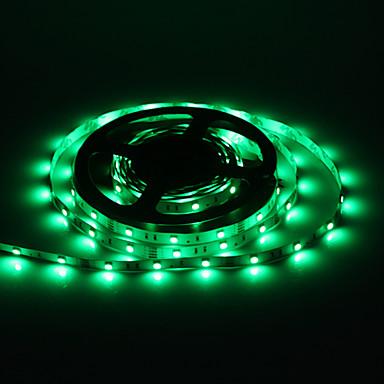 12V 3A Adaptör ile 5M 30W 30x5050SMD 1500 1800lm Yeşil Işık LED Şerit Işık
