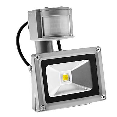 pir 10w 900lm dış mekan hareket sensörü gün gece 6000k serin beyaz ışık sel led ışık (ac85-265v)