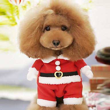 Köpek Kostümler Köpek Giyimi Karton Kırmzı Pamuk Kostüm Evcil hayvanlar için Erkek Kadın's Sevimli Cosplay Noel
