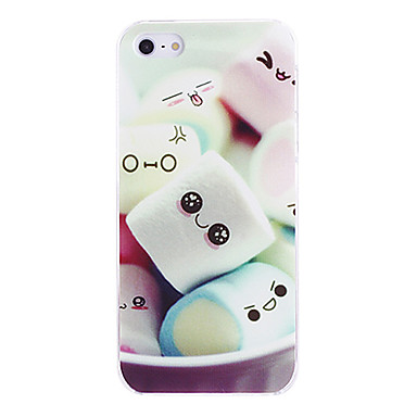 For iPhone 7 Plus Cute Marshmallow Pattern PC Hard Case for iPhone 5/5S