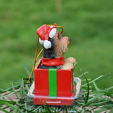 Pet Lovers için sevimli Yorkshire Dekoratif Süs Noel hediyesi